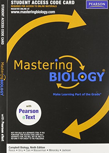 MasteringBiology with Pearson eText Student Access Code: Reece, Jane B.;