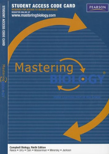 9780321686527: MasteringBiology -- Standalone Access Card -- for Campbell Biology (Mastering Biology (Access Codes))