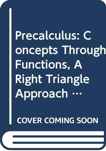 9780321686657: Precalculus: Concepts Through Functions, A Right Triangle Approach to Trigonometry, Books a la Carte Edition with MyMathLab -- Access Card Package (2nd Edition)