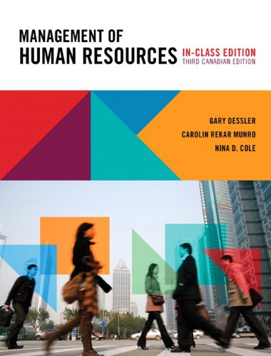 Stock image for Management of Human Resources, Third Canadian Edition, In-Class Edition, with MyHRLab (3rd Edition) for sale by OwlsBooks