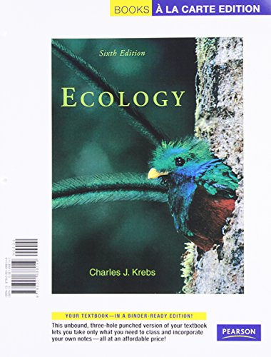 9780321688149: Books a la Carte for Ecology: The Experimental Anaysis of Distribution and Abundance (6th Edition)