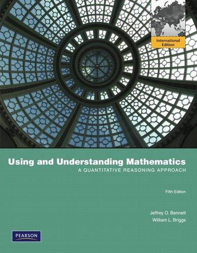 9780321688354: Using and Understanding Mathematics:A Quantitative Reasoning Approach:International Edition