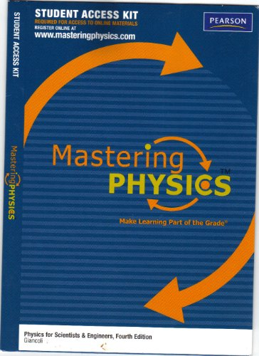 9780321690081: MasteringPhysics Student Access Kit for Physics for Scientists & Engineers