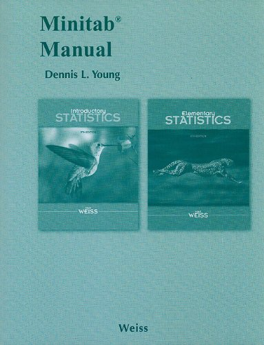 Minitab Manual for Introductory Statistics and Elementary: Neil A. Weiss