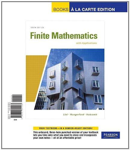 9780321691583: Finite Mathematics with Applications, Books a la Carte Edition (10th Edition)