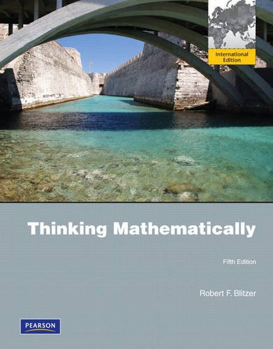 9780321692351: Thinking Mathematically