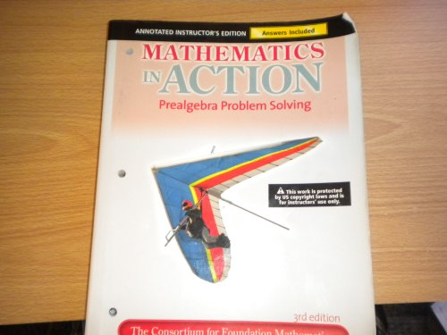 9780321692825: Mathematics in Action Prealgebra Problem Solving, annotated instructor's edition with answers