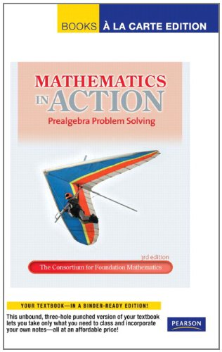 9780321692894: Mathematics in Action: Prealgebra Problem Solving, Books a la Carte Edition (3rd Edition)