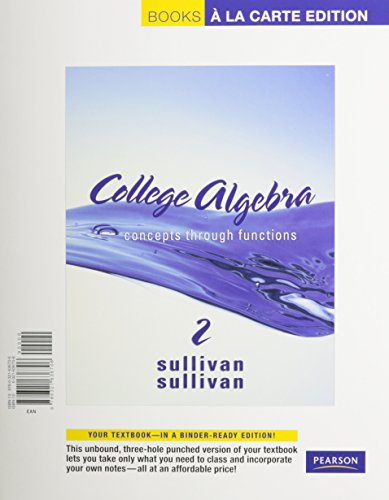 9780321693181: College Algebra: Concepts through Functions, A La Carte with MML/MSL Student Access Kit (adhoc for valuepacks) (2nd Edition)