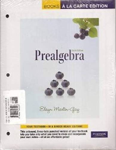 Prealgebra, A La Carte with MML/MSL Student Access Kit (adhoc for valuepacks) (6th Edition): ...
