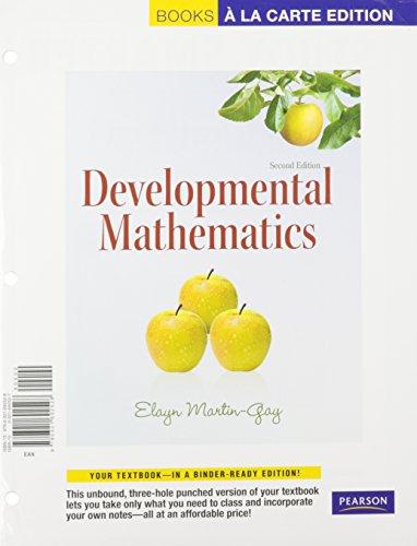 9780321693341: Developmental Mathematics, A La Carte with MML/MSL Student Access Kit (adhoc for valuepacks) (2nd Edition)