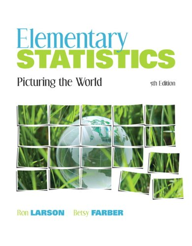 9780321693624: Elementary Statistics: Picturing the World (5th Edition)