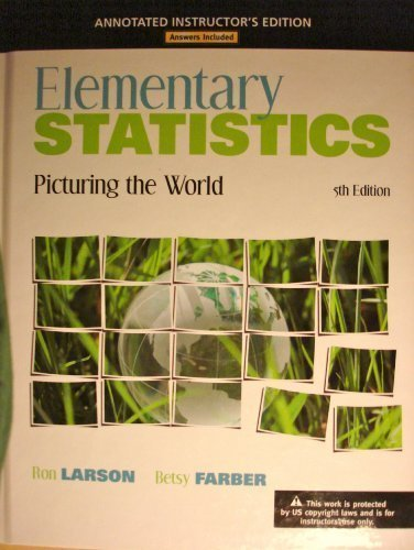 9780321693655: Elementary Statistics, Picturing the World, 5th Edition, Annotated Instructor's Edition