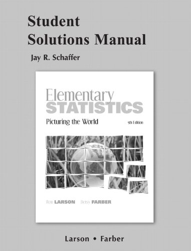 9780321693730: Student Solutions Manual for Elementary Statistics: Picturing the World