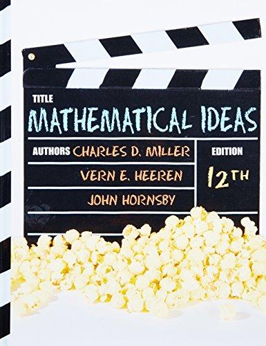 9780321693815: Mathematical Ideas (12th Edition)