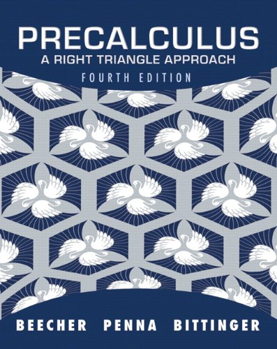 9780321693976: Precalculus: A Right Triangle Approach (4th Edition)