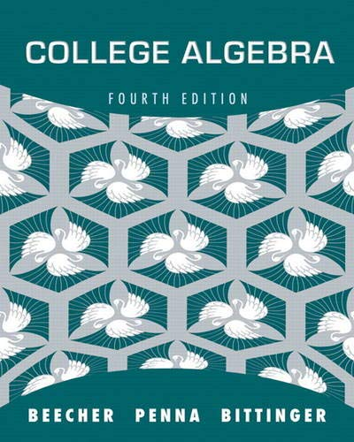 9780321693990: College Algebra (4th Edition) - AbeBooks - Judith A ...