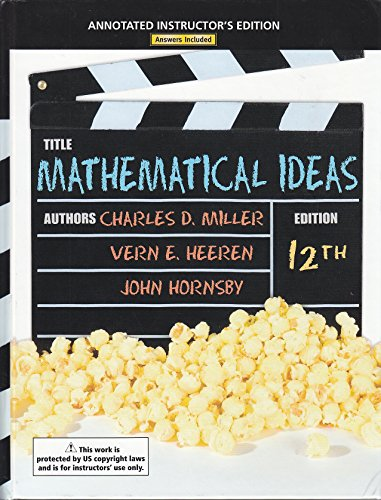 9780321694065: Mathematical Ideas 12th Edition (Annotated Instructor's Edtion)
