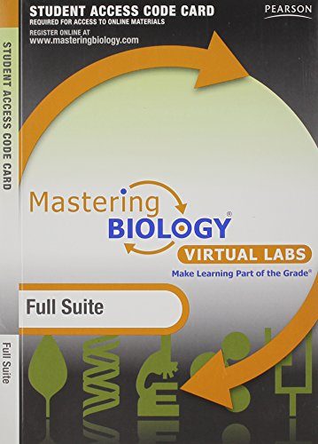 9780321694669: MasteringBiology without Pearson eText for -- Virtual Lab Full Suite -- Standalone Access Card