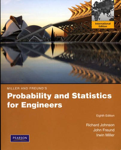 9780321694980: Miller & Freund's Probability and Statistics for Engineers:International Edition