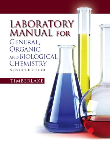 9780321695291: Lab Manual for General, Organic, and Biological Chemistry (2nd Edition)