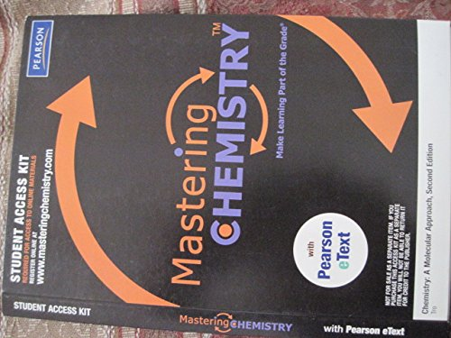 MasteringChemistry with Pearson eText Student Access Kit: Tro, Nivaldo J.