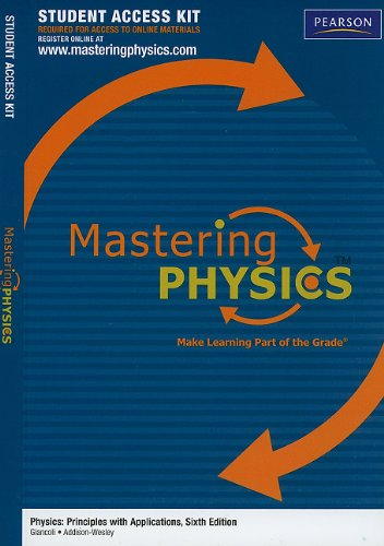 9780321696267: MasteringPhysics without Pearson eText -- Standalone Access Card -- for Physics: Principles with Applications (6th Edition) (Mastering Physics (Access Codes))