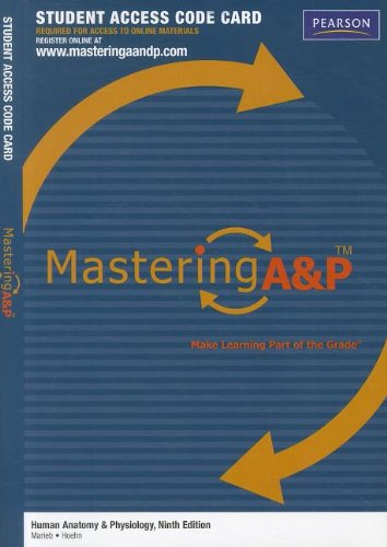 MasteringA&P -- Standalone Access Card -- for Human Anatomy & Physiology (0321696506) by Elaine N. Marieb; Katja Hoehn