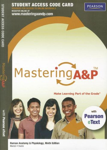 9780321696533: MasteringA&P with Pearson eText -- Standalone Access Card -- for Human Anatomy & Physiology (9th Edition)