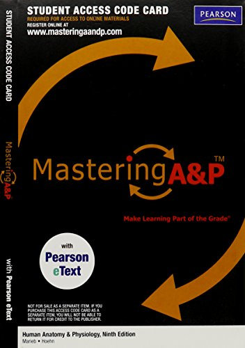 9780321696540: MasteringA&P with Pearson EText - Valuepack Access Card - for Human Anatomy & Physiology (ME Component)