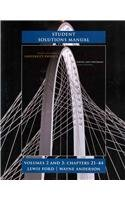 Student Solutions Manual for University Physics Volumes: Hugh D. Young,