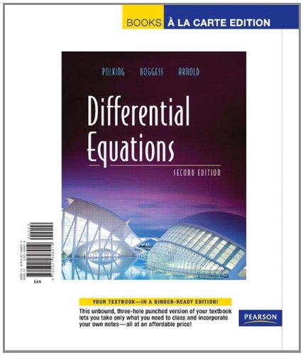 9780321698919: Differential Equations, Books a la Carte Edition (2nd Edition)
