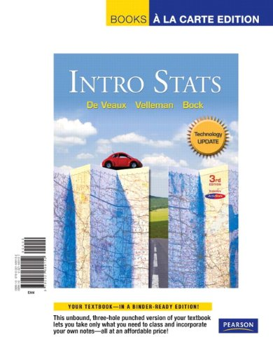 9780321699152: Intro Stats Technology Update, Books a la Carte Edition (3rd Edition)