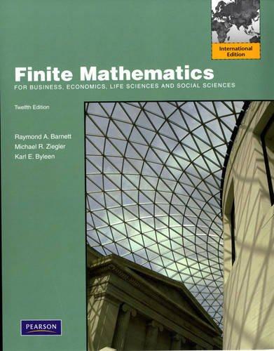 9780321702364: Finite Mathematics for Business, Economics, Life Sciences and Social Sciences: International Edition