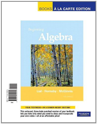 9780321702531: Beginning Algebra, Books a la Carte Edition (11th Edition)