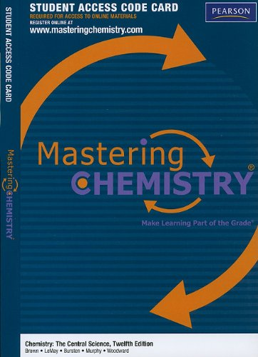 9780321705112: MasteringChemistry -- Standalone Access Card -- for Chemistry: The Central Science (MasteringChemistry (Access Codes))