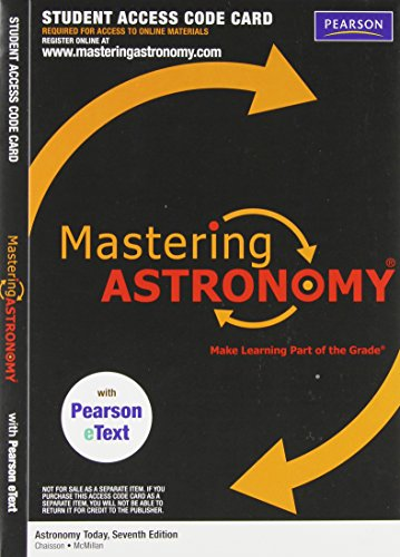 MasteringAstronomy with Pearson EText Student Access Code Card for Astronomy Today (ME Component) (0321705998) by Eric J. Chaisson; Steve McMillan