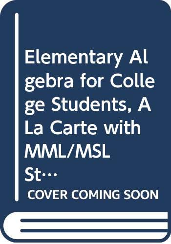 9780321706119: Elementary Algebra for College Students, A La Carte with MML/MSL -- Access Card Package (8th Edition)