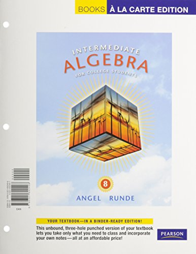9780321706126: Intermediate Algebra for College Students, A La Carte with MML/MSL Student Access Kit (adhoc for valuepacks) (8th Edition)