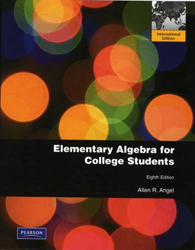 9780321706683: Elementary Algebra for College Students
