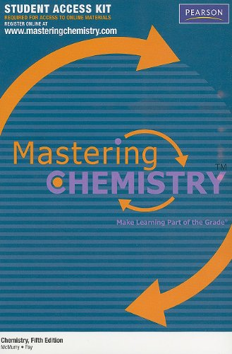 9780321706881: MasteringChemistry™ Student Access Kit for Chemistry (MasteringChemistry (Access Codes))