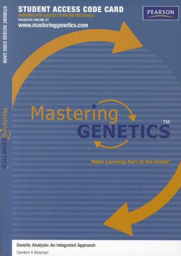 9780321707093: MasteringGenetics -- Standalone Access Card -- for Genetic Analysis: An Integrated Approach (Mastering Genetics (Access Codes))