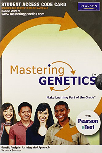 9780321707109: Masteringgenetics with Pearson Etext -- Standalone Access Card -- For Genetic Analysis: An Integrated Approach