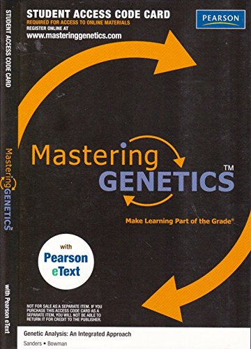 9780321707116: MasteringGenetics with Pearson eText -- Valuepack Access Card -- for Genetic Analysis: An Integrated Approach (ME Component)