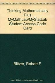 9780321709004: Thinking Mathematically plus MyMathLab/MyStatLab Student Access Code Card (5th Edition)