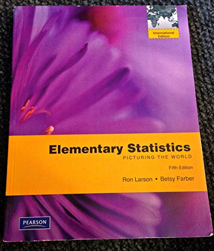 9780321709974: Elementary Statistics: Picturing the World (Elementary Statistics: Picturing the World, 5th Edition (International Version))