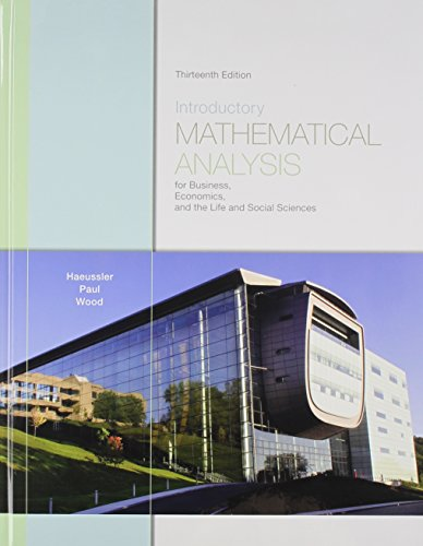 9780321715166: Introductory Mathematical Analysis: For Business, Economics, and the Life and Social Sciences