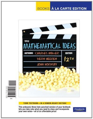 9780321715272: Mathematical Ideas, Books a La Carte Edition (12th Edition)