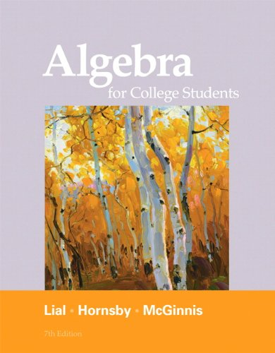 9780321715401: Algebra for College Students (7th Edition)