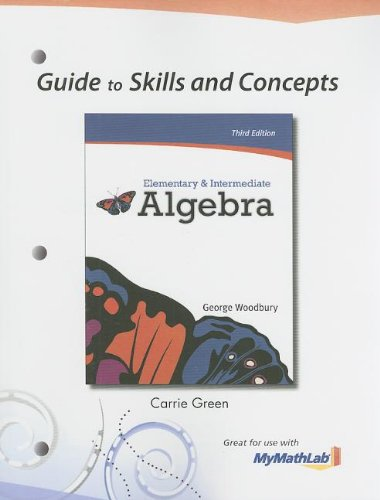 9780321715630: Guide to Skills and Concepts for Elementary & Intermediate Algebra